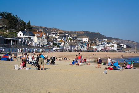lyme: Beach at Lyme Regis, Dorset, UK. Editorial