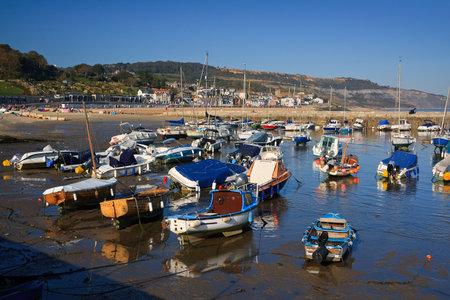 lyme: Harbour in Lyme Regis, Dorset, UK. Editorial