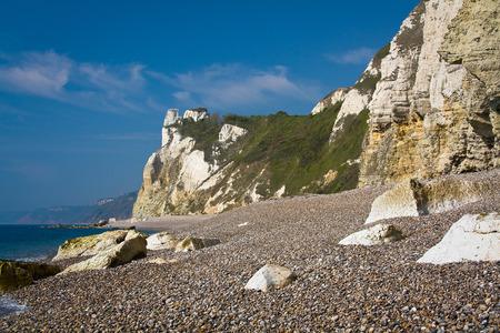 jurassic coast: Beach on Jurassic coast in Devon, UK.
