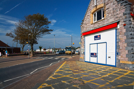 lifeboat station: Lifeboat station in Exmouth, Devon, UK.