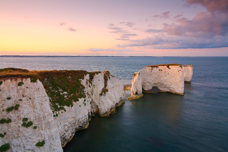 harry: Old Harry rocks in eastern Dorset, UK.