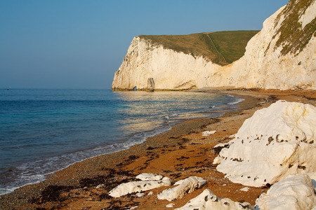 jurassic coast: Jurassic coast in Dorset, UK. Stock Photo