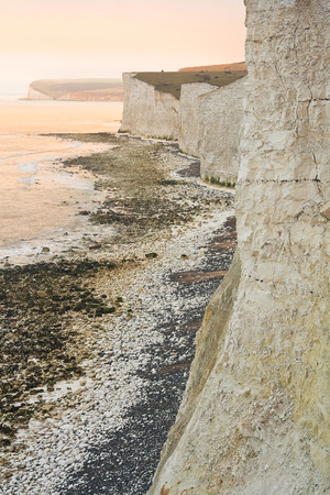 sussex: Seven Sisters cliffs in East Sussex, UK.