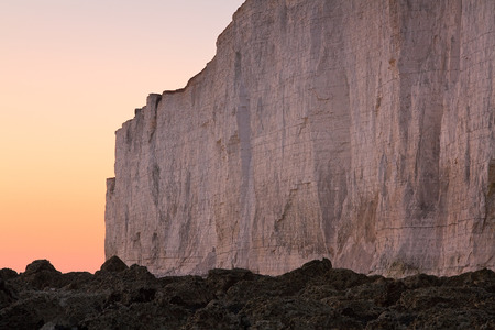 Seven Sisters cliffs in East Sussex, UK.