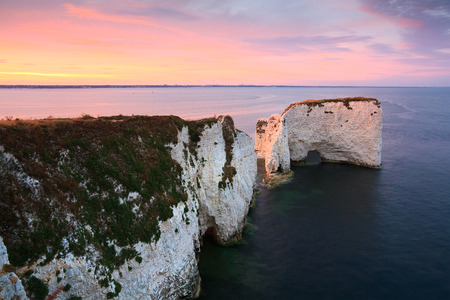harry: Old Harry rocks on Jurassic Coast in eastern Dorset, UK.