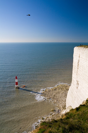 sussex: Beachy head lighthouse in East Sussex, UK.