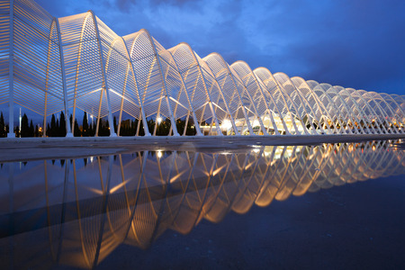 sports complex: Promenade in the Olympic Sports Complex in Athens Editorial