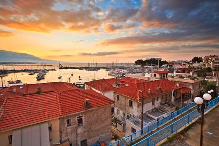 Morning in Mikrolimano marina in Athens, Greece. Stock Photo