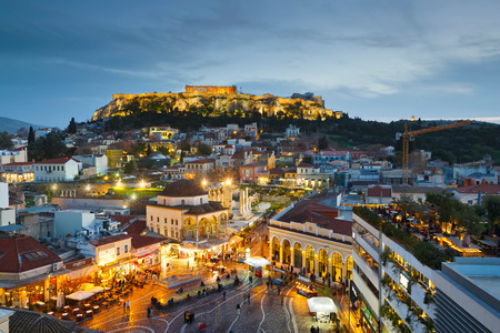 Monastiraki square and Plaka, Athens, Greece.