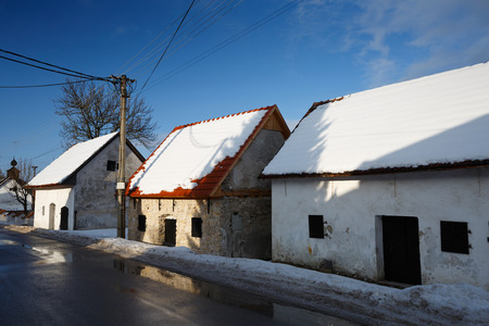 slovak: Traditional architecture in a Slovak village. Stock Photo