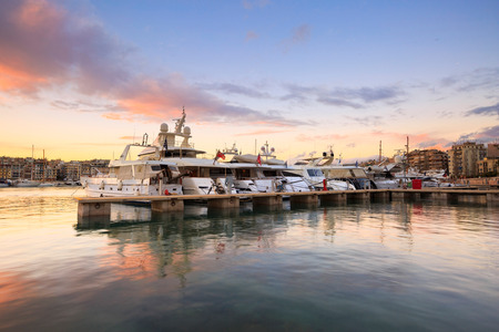 zea: Yachts in Zea Marina in Athens, Greece. Stock Photo