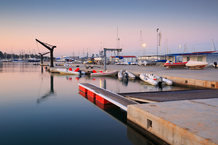 motor boats: Motor boats in Kallithea in Athens, Greece