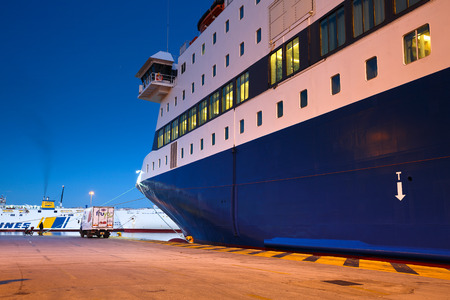 ferries: Ferries in passenger port in Piraeus, Athens, Greece