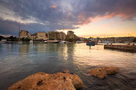 zea: Yachts in Zea Marina in Athens, Greece. Editorial