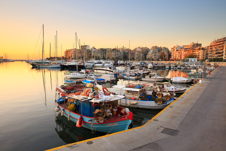 zea: Fishing boats and yachts in Zea Marina in Athens, Greece