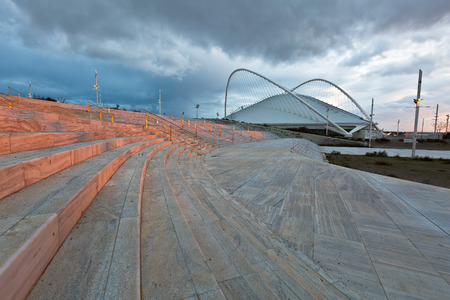 olympic: The Olympic Velodrome stadium in Athens Editorial