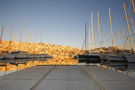 slipway: Yachts in Mikrolimano marina in Athens, Greece.