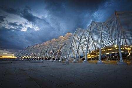 deportes olimpicos: Entrada principal al Complejo Deportivo Ol�mpico en Atenas Editorial