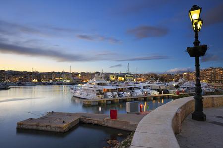 Yachts in Zea Marina in Athens, Greece. Фото со стока