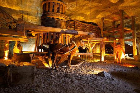 salt mine: Wieliczka salt mine near Krakow in Poland.