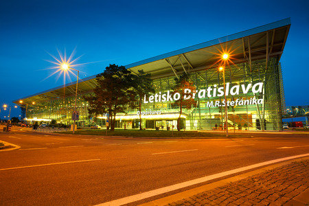 Terminal building of the Bratislava airport in Slovakia