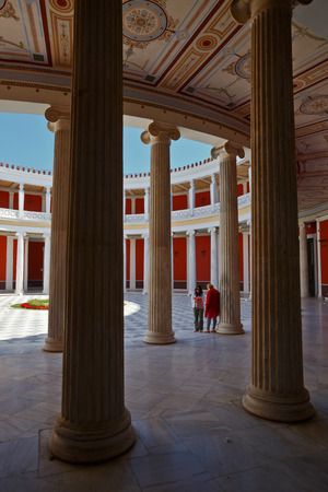 colonade: Zappeion building in the national gardens of Athens