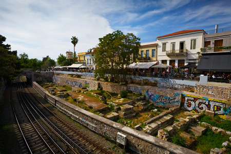 coffee shops: Coffee shops near Agora in Athens Greece