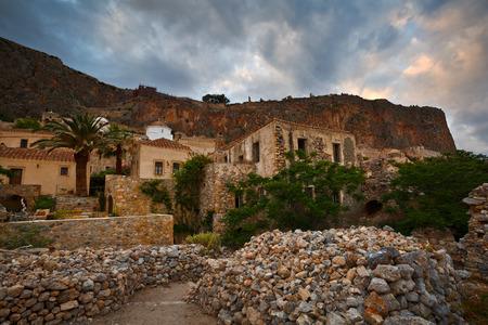 laconia: Monemvasia village in Peloponnese Greece.