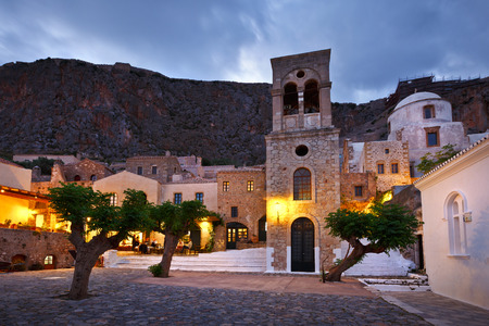 laconia: Monemvasia village in Peloponnese Greece.