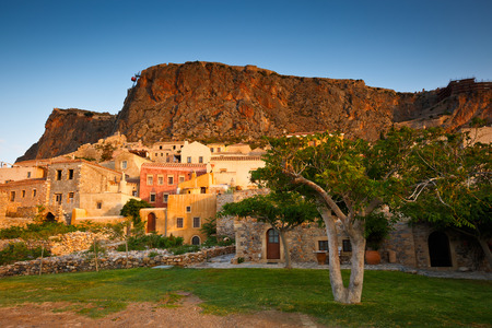 laconia: Monemvasia village in Peloponnese, Greece. Stock Photo