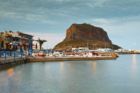 laconia: Harbour in the new Monemvasia village in Peloponnese