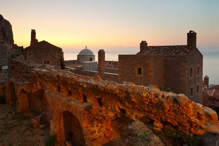 laconia: Monemvasia village in Peloponnese, Greece. Stock Photo