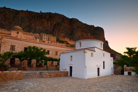 laconia: Monemvasia village in Peloponnese, Greece. Editorial