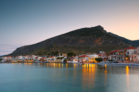 laconia: Seafront in the new Monemvasia village in Peloponnese, Greece.