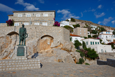 admiral: Statue of Admiral Miaoulis hero from the Greek War of Independence, Hydra Editorial