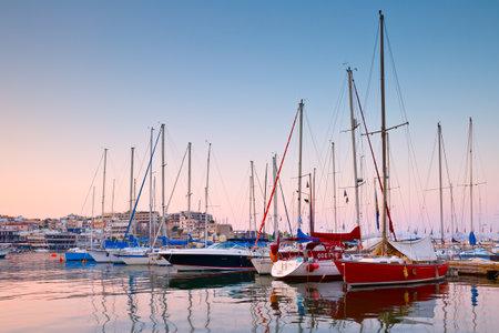sailing boats: Sail boats at the yacht club in Mikrolimano marina in Athens, Greece