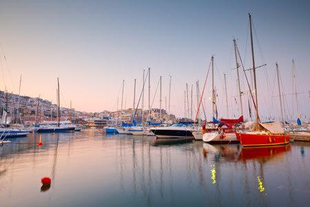 Sail boats: Sail boats at the yacht club in Mikrolimano marina in Athens, Greece
