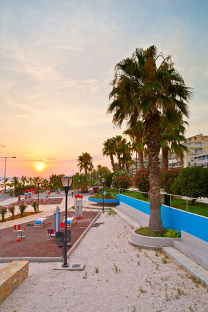 seafronts: Playground on the seafront of Athens in Palaio Faliro, Greece