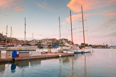 Sail boats: Sail boats in Mikrolimano marina in Athens, Greece Editorial