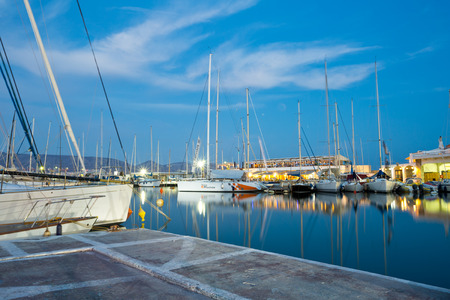 yacht club: Boats at the yacht club in Mikrolimano marina in Athens, Greece Editorial