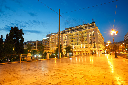 syntagma: Hotels in Syntagma square next to the Greek parliament Editorial