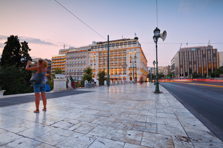 syntagma: Hotels in Syntagma square next to the Greek parliament Editoriali