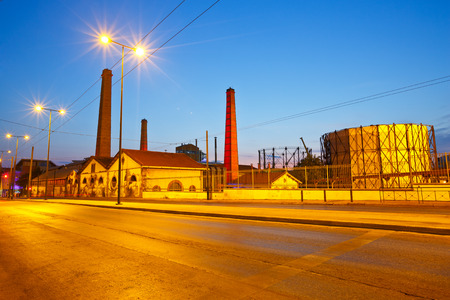venue: View of Technopolis, an industrial museum and a major cultural venue on the premises of former gasworks of the  city of Athens, Greece in the neighborhood of Gazi
