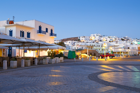 cycladic: Newer part of the village of Naousa consisting mostly of hotels