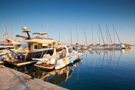 cycladic: View of the marina in Naousa village on Paros island, Greece Editorial