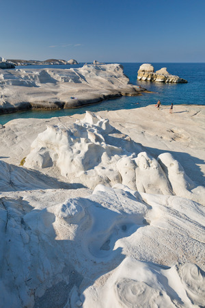 internationally: Internationally famous Sarakiniko beach in Milos island, Greece.