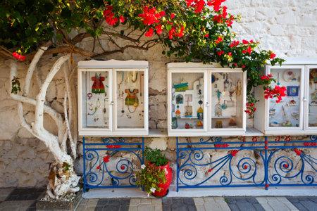 show cases: Show cases of a jewelry shop in Adamantas village, Milos island, Editorial
