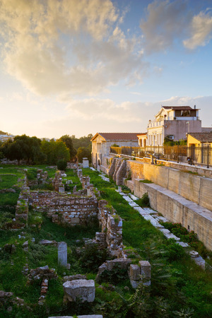 remains: Remains of the ancient Athens under Acropolis, Greece