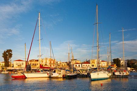 Sail boats: Sail boats in the port of Aegina, Greece