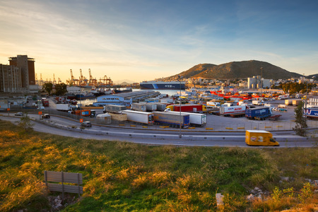 city fish market: Industrial port and the central fish market in Piraeus, Athens Editorial